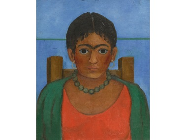 A screen grab of Frida Kahlo's painting Nina Con Collar. Image courtesy: Sothebys