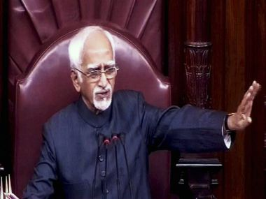 File image of Chairman of Rajya Sabha and Vice-President of India Hamid Ansari. PTI