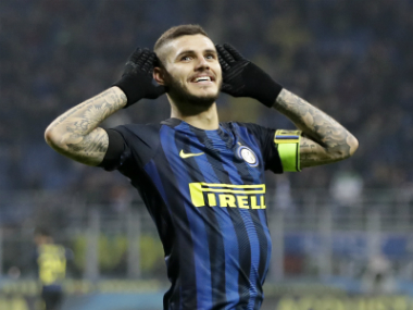 File image of Inter Milan captain Mauro Icardi. AP