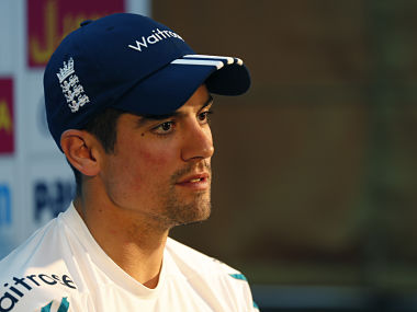 England's cricket team captain Alastair Cook listens to a question during a press conference. AP