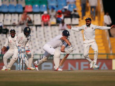 England's Alastair Cook is bowled in the second innings. Reuters