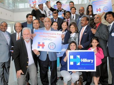 Indian Americans for Hillary Clinton. Photo courtesy: IAHC