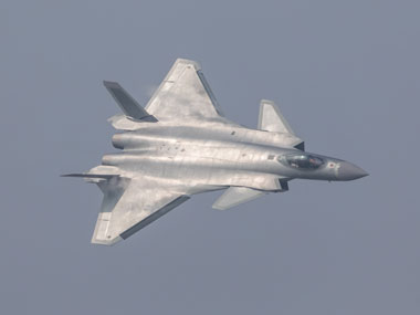 China unveils its J-20 stealth fighter during an air show in Zhuhai, Guangdong Province, China, 1 November  2016. Reuters