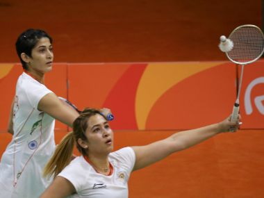 Jwala Gutta and Ashwini Ponnappa during the 2016 Rio Olympics.  Reuters