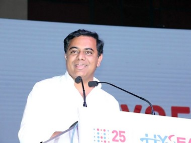 KT Rama Rao, Industries & IT minister, Telangana