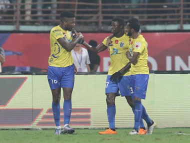 Kerala Blasters FC have made the 4-3-3 formation work for them. Image courtesy: ISL