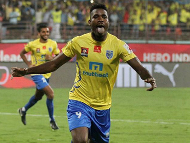 File image of Kerala Blasters in action. Twitter/@KeralaBlastersFC
