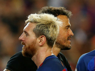 Lionel Messi received FC Barcelona boss Luis Enrique's backing for sticking to the Catalan giants to the rest of his career. Reuters