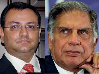 Cyrus Mistry, ousted chairman, Tata Sons and Ratan Tata, incumbent chairman