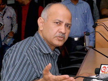 Delhi education minister Manish Sisodia. PTI file image