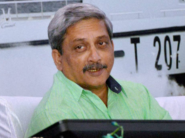 Defence Minister Manohar Parrikar. File photo. PTI