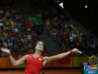 File photo of Carolina Marin. AFP