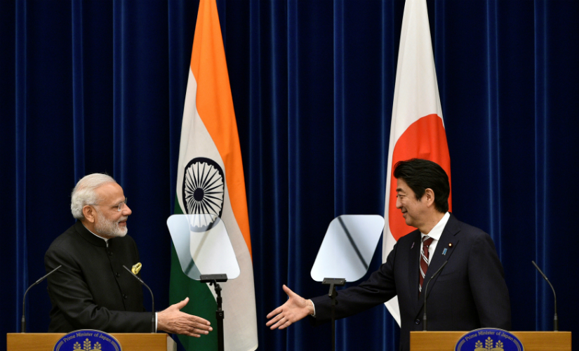 PM Narendra Modi and Japan's PM Shinzo Abe during a joint press conference at Abe's official residence in Tokyo, Japan. Reuters