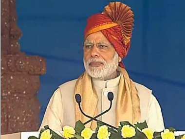 PM Modi addressing Karnataka Lingayat Education Society Centenary celebrations in Karnataka. Twitter @BJP4India