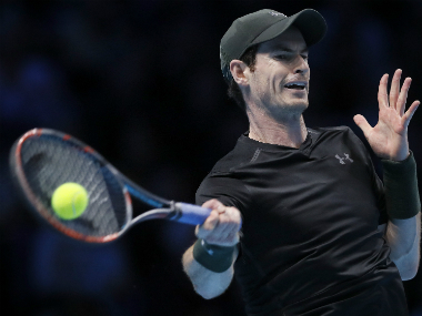 Andy Murray during his win against Stan Wawrinka. AP