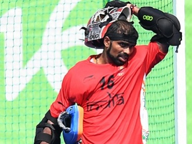 File photo of India hockey team goalie PR Sreejesh. AFP