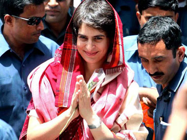 A file photo of Priyanka Gandhi. AFP
