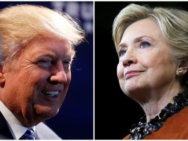 Donald Trump and Hillary Clinton. Reuters