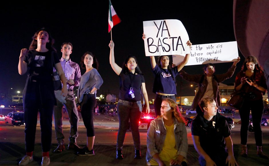 The raw divisions exposed by the presidential race were on full display across America on Wednesday, as protesters flooded city streets to condemn Donald Trump's election. Reuters