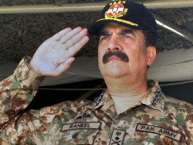 File photo of Raheel Sharif. AP