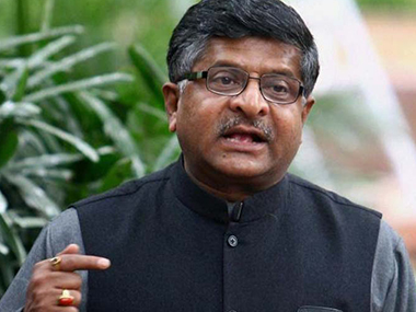 Ravi Shankar Prasad. File photo. PTI
