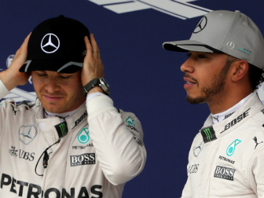 Germany's Nico Rosberg and Britain's Lewis Hamilton, the two title contenders. Reuters