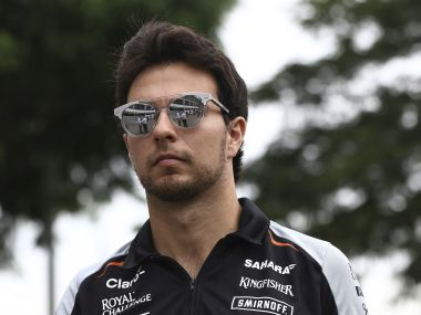 File photo of Sergio Perez. AP