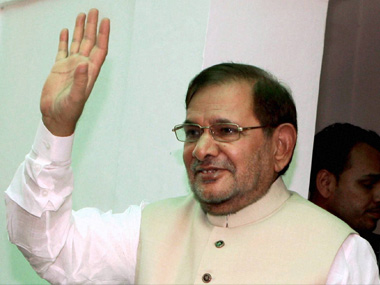 Janata Dal (United) leader Sharad Yadav. PTI