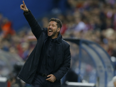 File image of Atletico Madrid boss Diego Simeone. AP