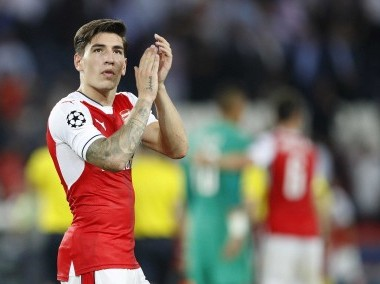 File photo of Arsenal's Hector Bellerin. AP
