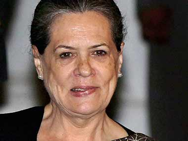 File photo of Congress chief Sonia Gandhi. PTI