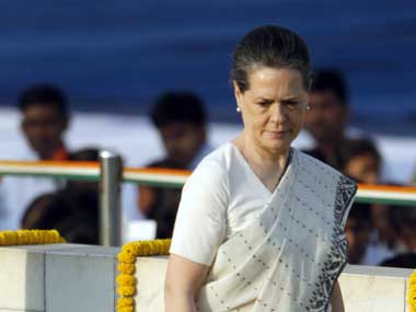 File photo of Sonia Gandhi. AP