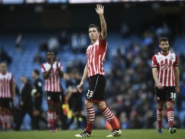 File image of Southampton's players. AFP