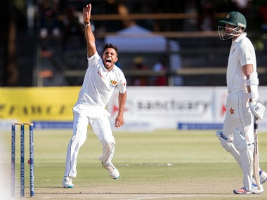 The brunt of wrong umpiring decisions have gone against Zimbabwe in the Test series. AFP