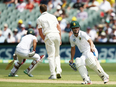 Stephen Cook and Faf du Plessis helped the Proteas recover after a flurry of wickets. Getty Images