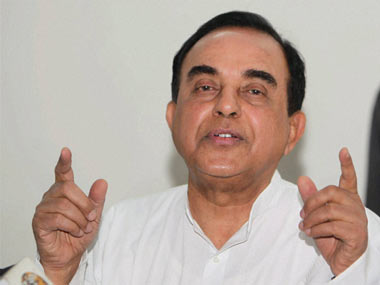 File image of BJP leader Subramanian Swamy. PTI