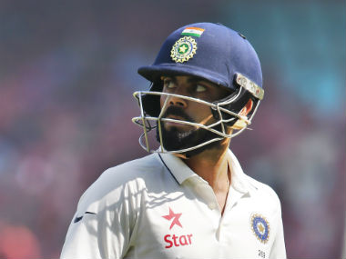 Virat Kohli top-scored for India with a knock of 81. AP