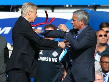 Arsene Wenger (L) and Jose Mourinho (R). Getty Images
