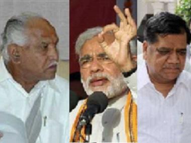 BS Yeddyurappa, Narendra Modi and Jagdish Shettar