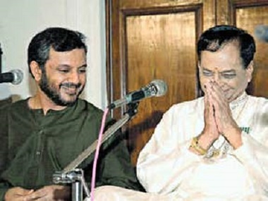 Rama Varma with the late Balamuralikrishna