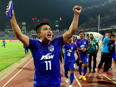 File photo of Sunil Chhetri. PTI