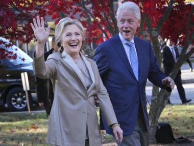 Hillary Clinton with husband Bill Clinton. AP