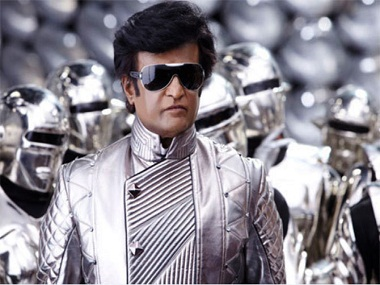 Rajinikanth in the original 'Enthiran/Robot'