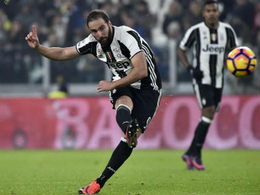 File photo of Juventus striker Gonzalo Higuain. Reuters