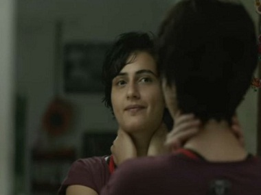 Sana Shaikh in a still from the song Gilehriyaan
