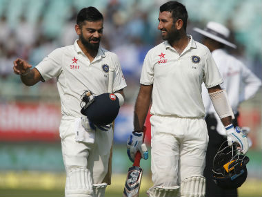 Kohli and Pujara powered India to a dominant position on Day 1. AP