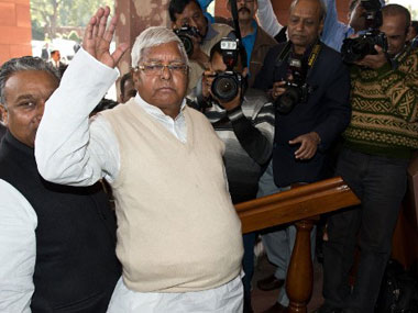 A file photo of Lalu Prasad Yadav. AFP