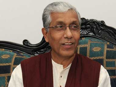 File image of Tripura Chief Minister Manik Sarkar. Image courtesy PIB