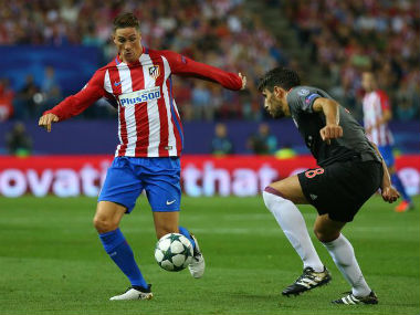 Torres (left) is expected to lead Atletico Madrid's attack against Rostov. Reuters