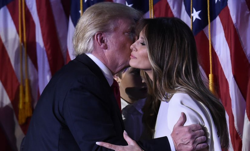 US President-elect Donald Trump with wife Melania. AFP
